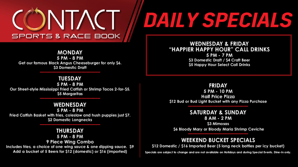 Contact Daily Specials
