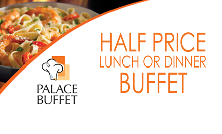 Half Price Lunch or Dinner Buffet