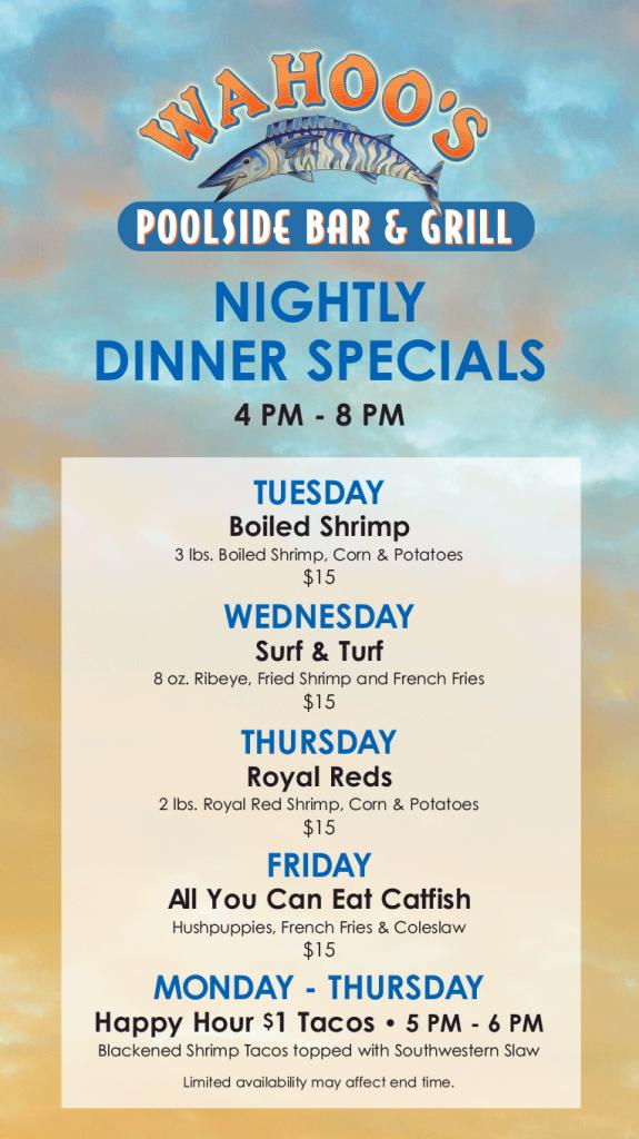 Nightly Dinner Specials