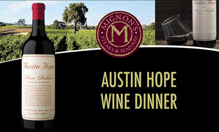 Austin Hope Wine Pairing Dinner