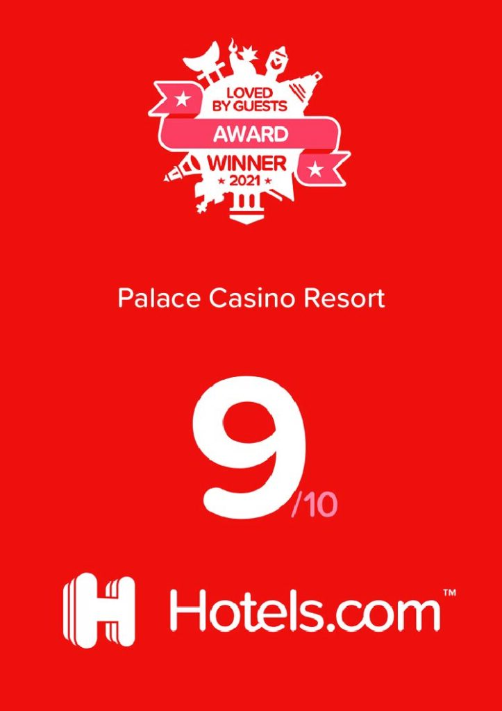 Palace Casino Resort Receives 'Loved By Guests Award' from Hotels.com