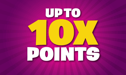 Up to 10X Points